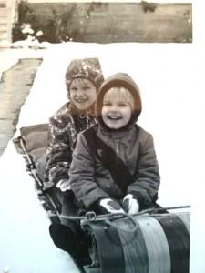 Karen and Katie on Tobogan ligher